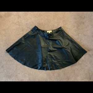 Kate Kasin Faux Leather Skirt